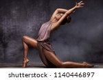 young beautiful african... | Shutterstock . vector #1140446897
