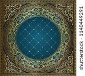 golden ornate art deco vintage... | Shutterstock .eps vector #1140449291