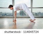 side view of a young man...   Shutterstock . vector #114045724