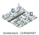 isometric area landscape | Shutterstock . vector #1140464567