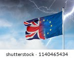 merging european and british... | Shutterstock . vector #1140465434