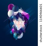 abstract geometric design . | Shutterstock .eps vector #1140466601