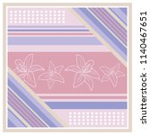 colorful silk scarf with... | Shutterstock .eps vector #1140467651
