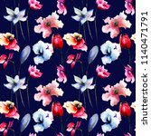 seamless pattern with colorful...   Shutterstock . vector #1140471791