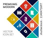 modern  simple vector icon set...   Shutterstock .eps vector #1140472697