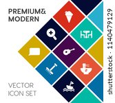modern  simple vector icon set... | Shutterstock .eps vector #1140479129