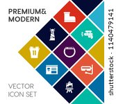 modern  simple vector icon set... | Shutterstock .eps vector #1140479141
