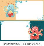 octopus  love  vector... | Shutterstock .eps vector #1140479714