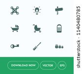 modern  simple vector icon set... | Shutterstock .eps vector #1140480785