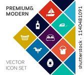 modern  simple vector icon set... | Shutterstock .eps vector #1140481091