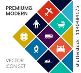 modern  simple vector icon set... | Shutterstock .eps vector #1140484175