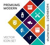 modern  simple vector icon set... | Shutterstock .eps vector #1140484394
