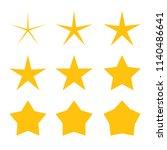star icon set vector | Shutterstock .eps vector #1140486641