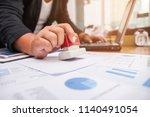 close up of a businessman hand... | Shutterstock . vector #1140491054