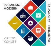 modern  simple vector icon set... | Shutterstock .eps vector #1140492419