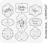hand drawn vintage label set | Shutterstock .eps vector #114049267