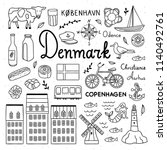 denmark icons and objects... | Shutterstock .eps vector #1140492761