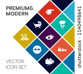 modern  simple vector icon set... | Shutterstock .eps vector #1140498641