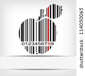 Barcode Image With Red Strip  ...