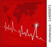 white heart beats cardiogram on ...   Shutterstock . vector #114050071