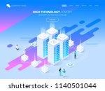 high technology concept. big... | Shutterstock .eps vector #1140501044