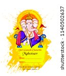 illustration of lord ganpati... | Shutterstock .eps vector #1140502637
