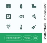 modern  simple vector icon set... | Shutterstock .eps vector #1140502829