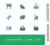 modern  simple vector icon set... | Shutterstock .eps vector #1140503735