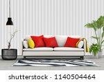 3d rendering of interior modern ... | Shutterstock . vector #1140504464