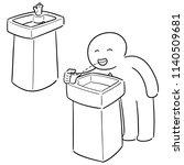 vector set of drinking water... | Shutterstock .eps vector #1140509681