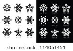 snowflakes icons with shadow on ... | Shutterstock .eps vector #114051451