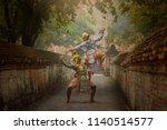 art culture thailand dancing in ...   Shutterstock . vector #1140514577