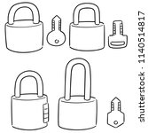 vector set of lock and key | Shutterstock .eps vector #1140514817