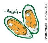 hand drawn illustration of... | Shutterstock .eps vector #1140523511
