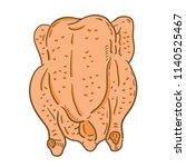 hand drawn illustration of... | Shutterstock .eps vector #1140525467