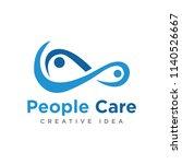 people care creative logo... | Shutterstock .eps vector #1140526667