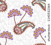 seamless pattern with ornate... | Shutterstock .eps vector #1140532364