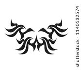 graphic tattoo design. stencil. ... | Shutterstock .eps vector #1140532574