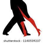 legs of woman and man dancing... | Shutterstock .eps vector #1140539237