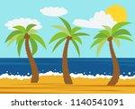 cartoon nature landscape with...   Shutterstock . vector #1140541091