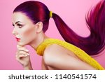 beauty fashion model girl with... | Shutterstock . vector #1140541574