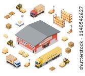 warehouse  storage  logistics...   Shutterstock .eps vector #1140542627