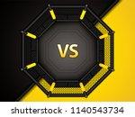 vector illustration of mma cage.... | Shutterstock .eps vector #1140543734