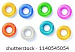swimming rings isolated on... | Shutterstock .eps vector #1140545054