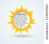 sun template for your design.... | Shutterstock .eps vector #114054565