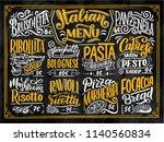 italian food menu   names of...   Shutterstock .eps vector #1140560834