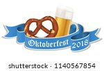 oktoberfest 2018 background... | Shutterstock .eps vector #1140567854