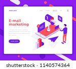 e mail marketing people and... | Shutterstock .eps vector #1140574364