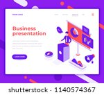 business presentation people... | Shutterstock .eps vector #1140574367