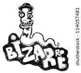 bizarre worm. cartoon character....   Shutterstock .eps vector #114057481